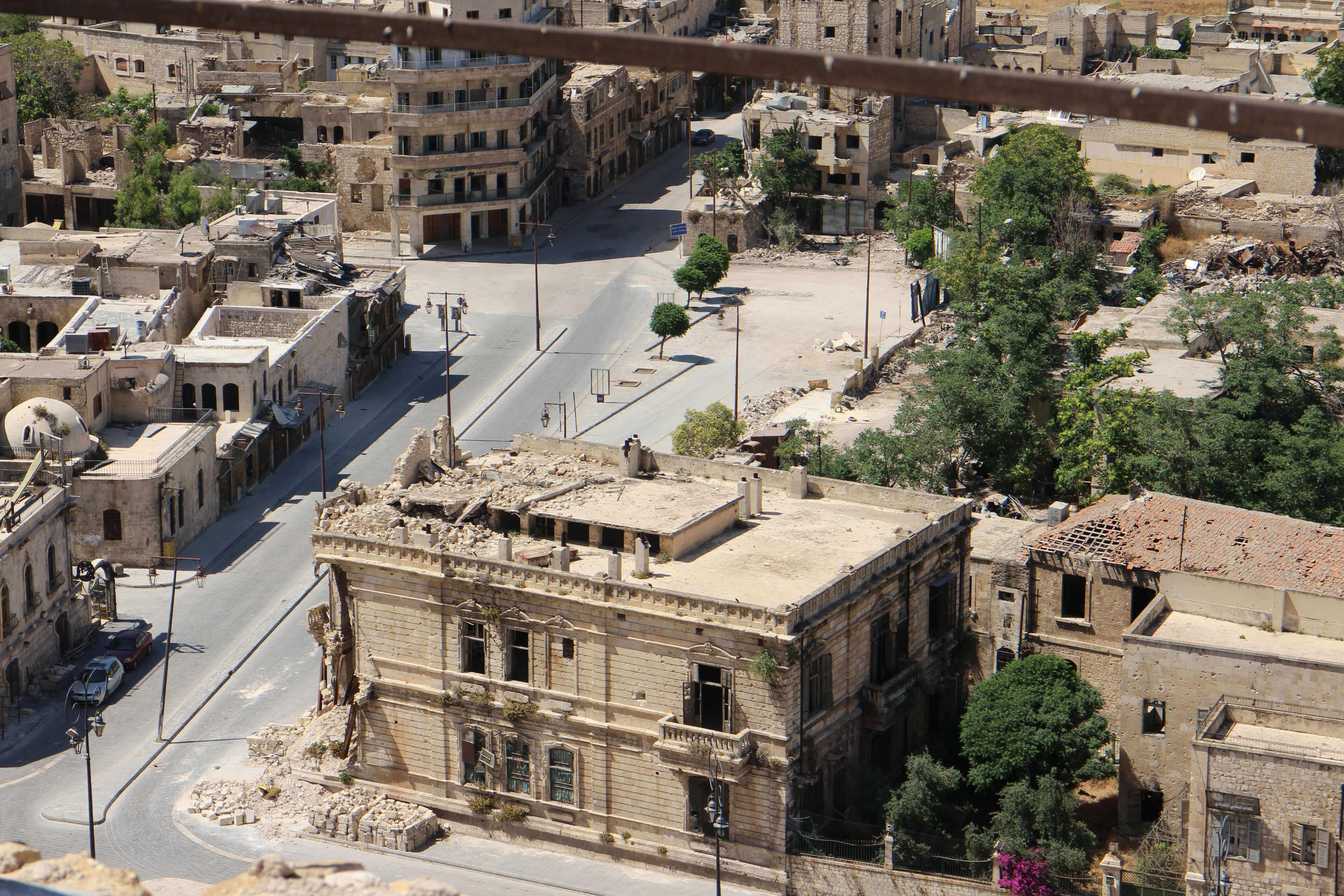 cidade de aleppo na guerra civil na síria
