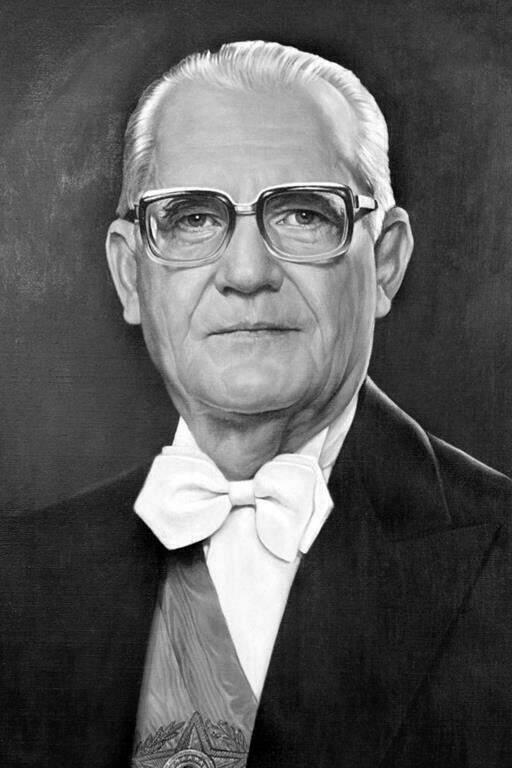 Ernesto Geisel, quarto presidente durante a ditadura militar. Foto em domínio público.