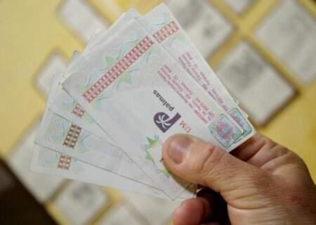 Cédulas de palma, moeda alternativa do Conjunto Palmeiras