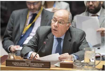 Mauro Vieira, representante permanente do Brasil para as Nações Unidas se dirige ao Conselho de Segurança.