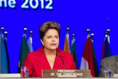 Ex-presidenta Dilma Rousseff abre a conferência das Nações Unidas para Desenvolvimento Sustentável, Rio +20 no Rio de Janeiro em 2012.