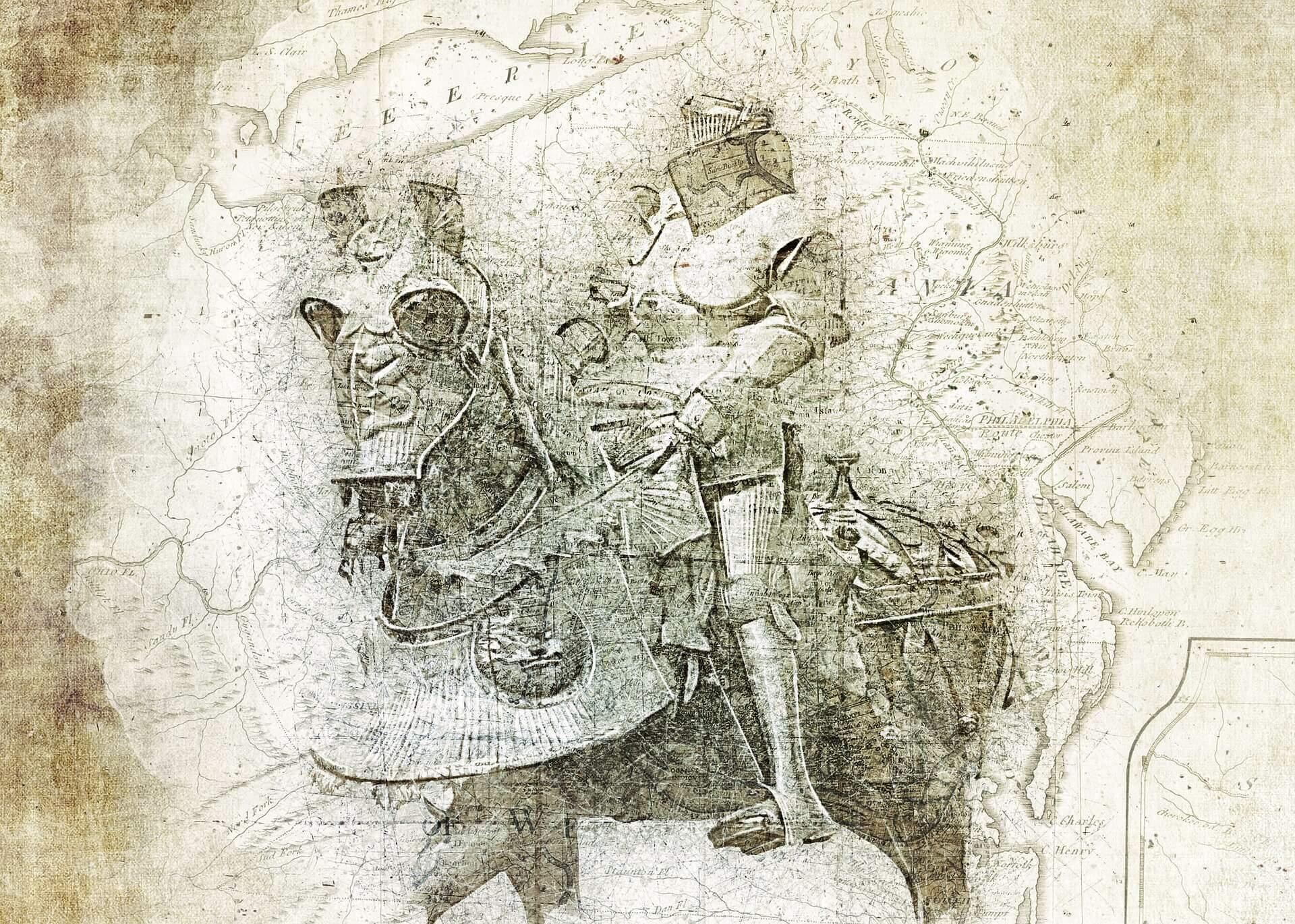 Representação de um cavaleiro das Cruzadas. (Imagem de Brigitte Werner/ Pixabay)