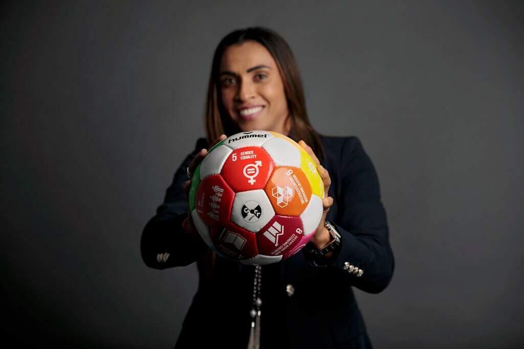 Jogadora Marta durante Copa do Mundo Feminina