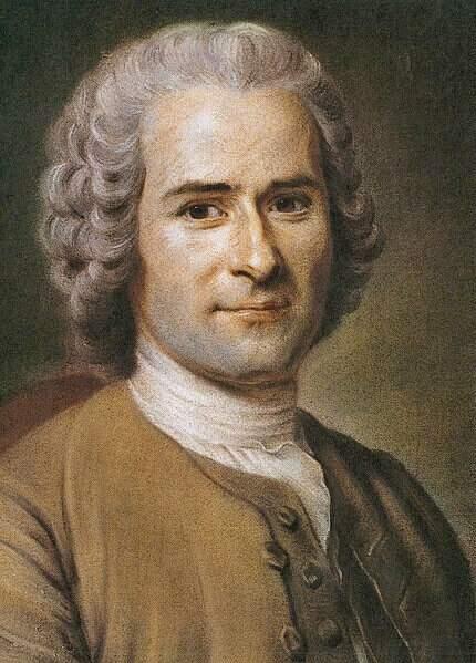 Na imagem, retrato de Rousseau. Conteúdo sobre o poder do estado