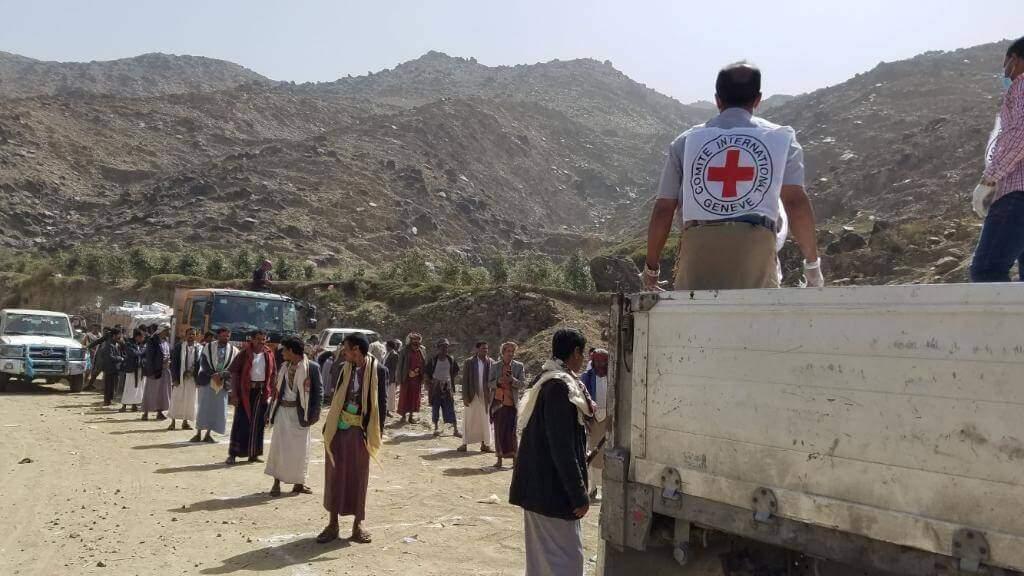 Distribuição de alimentos no Iêmen pela Cruz Vermelha. (Foto: ICR/ Via Fotos Públicas)