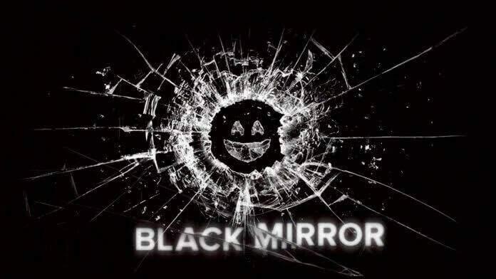 Logo da série Black Mirror.
