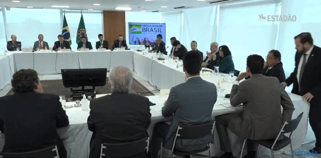 Reunião Ministerial de 22 de abril. (Print do vídeo da reunião, disponível no canal do Estadão)