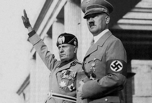Benito Mussolini e Adolf Hitler. Foto: History Channel