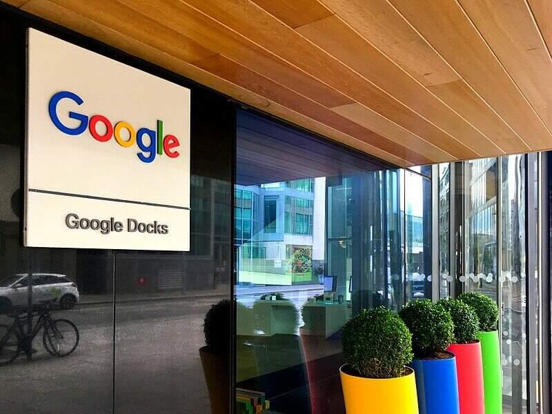 Escritório do Google na Irlanda.
